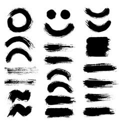 brush strokes set 10 vector image vector image