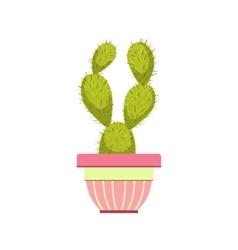 Cactus In Pink Pot vector image vector image