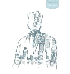 City businessman freedom winner hero vector