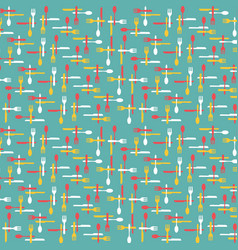 Cutlery and kitchen utensils pattern background il vector