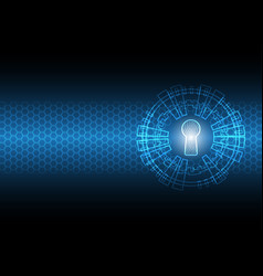 cyber security keyhole vector image vector image