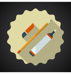 Designer Drawing Items include pencil eraser vector image vector image