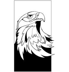 eagle head in black interpretation vector image