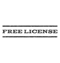 Free license watermark stamp vector