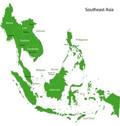 Green Southeastern Asia vector image