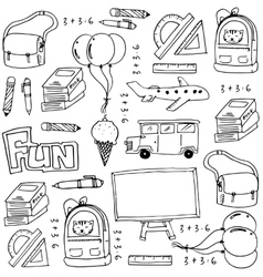Hand draw education school doodles vector