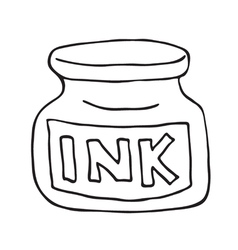 Ink pot icon vector image