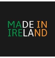 Made in Ireland vector image