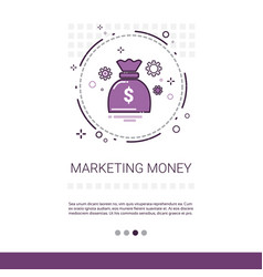money marketing vision business idea banner with vector image vector image