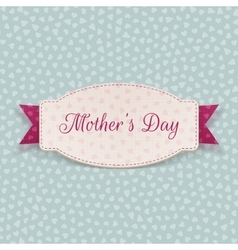 Mothers Day greeting paper Card Template vector image