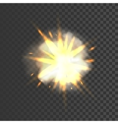 New realistic explosion sign vector
