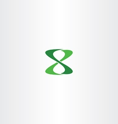 Number 8 eight logo green icon vector