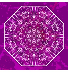 Oriental mandala motif in pink vector