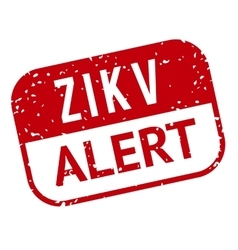 Red and white Zika Virus stamp vector image