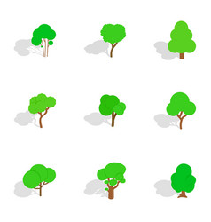 summer tree icons isometric 3d style vector image vector image
