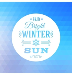 Triangle Abstract Winter Background vector image vector image