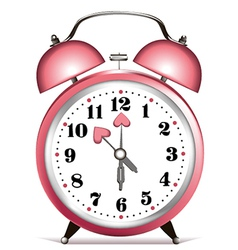Valentine clock vector image