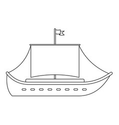 vessel icon outline style vector image