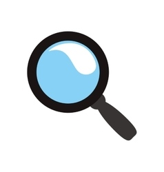 Lupe icon Search design graphic vector image