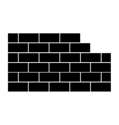 Brick wall icon image vector