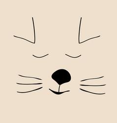 Kitty sleep cute funny cartoon cat head vector