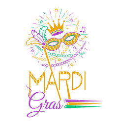 Mardi gras party mask vector