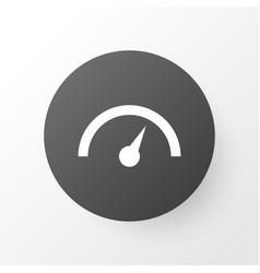 speedometer icon symbol premium quality isolated vector image