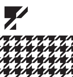 Classic hounds tooth swatch pattern vector