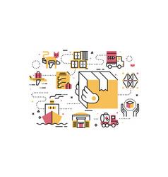 Logistics and transportation vector