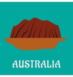 Australian travel landmark flat design vector