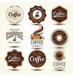 coffee label5 vector image