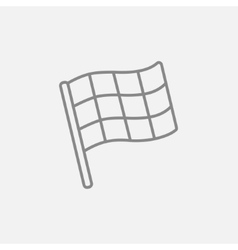 Checkered flag line icon vector