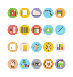 Design and Development Icons 2 vector image