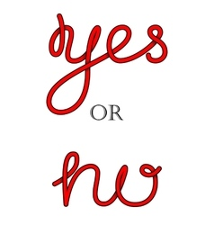 Yes and no hand-lettering calligraphy vector