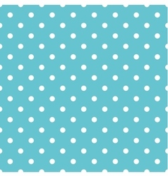 Tile pastel pattern with white polka dots on mint vector