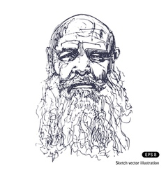 Old man with a beard vector