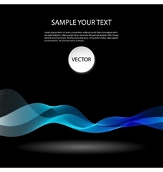 Colorful abstract waves on black background vector