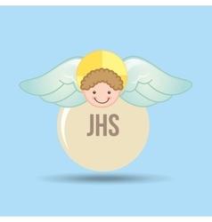 Angel wings religion vector