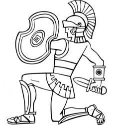ancient soldier vector image vector image