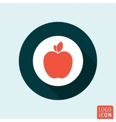 Apple icon isolated vector image vector image