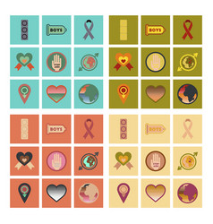 Assembly flat icons gay symbols vector