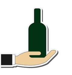 Bootle alcohol drink design vector