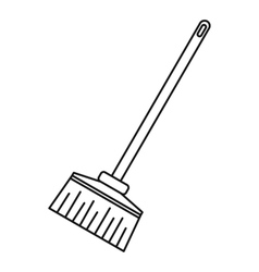 Broom icon outline style vector