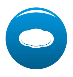 cloud icon blue vector image