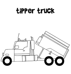 Collection of tipper truck vector