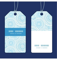 Doodle circle water texture vertical stripe frame vector