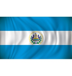 Flag of El Salvador vector image vector image
