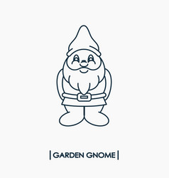 Garden gnome icon vector