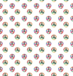 geometric hexagon pattern vector image vector image