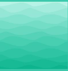 Gradual wavy blue turquoise background vector